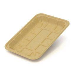 BeGreen Fiber Supermarket Food Tray 8.4 in x 6 in BG-2D-G