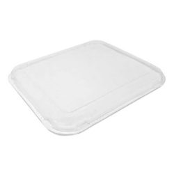 BeGreen PET Clear Flat Lid for Food Tray 6.5 in x 6 in BG-FT-FPL
