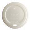 BetterEarth CPLA White Flat Lid for Hot Cup 10-24 oz BE-HL1024PLA