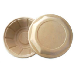 BetterEarth Fiber Bamboo Dome Lid for Round Bowl 24-48 oz BE-FRBL32EB
