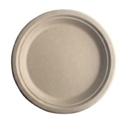 BetterEarth Fiber Bamboo Round Plate 6 in BE-FRP6EB