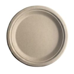 BetterEarth Fiber Bamboo Round Plate 7 in BE-FRP7EB