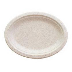 BetterEarth Fiber Blend Oval Platter 10 in x 7 in BE-ECFOP710