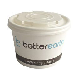 BetterEarth Paper PLA Lined Food Container 8 oz BE-SC8PLA