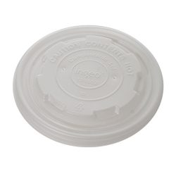Conserveware CPLA Flat Lid for Container 12-32 oz 42FCLPLA115