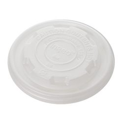 Conserveware CPLA Flat Lid for Container 8 oz 42FCLPLA90