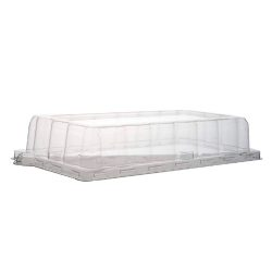 Conserveware Clear Dome Lid for Rectangular Plate 7.5 in x 5.5 in 42RCL75