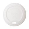 Conserveware Compostable CPLA Flat Lid for Hot Cup 8 oz 42HCLPLA80