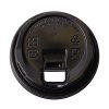Conserveware Compostable PP Black Flat Lid for Hot Cup 8 oz 42HCLPP80