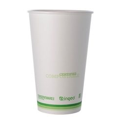 Conserveware Compostable Paper PLA Lined Hot Cup 16 oz 42HC16