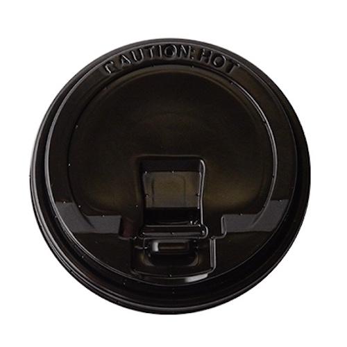 Conserveware PP Black Flat Lid for Hot Cup 10-20 oz 42HCLPP90