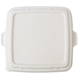 Conserveware Sugarcane Square Lid for 3 Compartment Tray 9 in. 42STBFL9