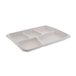 EarthChoice Fiber Blend 5 Compartment Tray 8.5 in x 10.5 in MC58000S