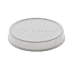 EarthChoice Fiber Blend White Flat Lid for Soup Cup 8-16 oz LMC81216EC