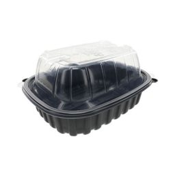 EarthChoice MFPP Black Lid Microwavable Roaster Container 9.5 in x 7.5 in x 4.25 in YCNC6011DPPZ