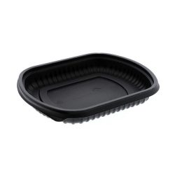 EarthChoice MFPP Black Rectangular Microwavable Container 16 oz 8 in x 6.5 in x 1 in 0CN846160000