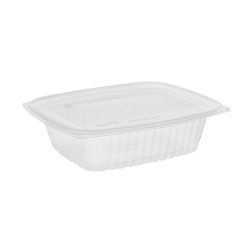 EarthChoice PLA Clear Deli Lid Container 24 oz 7.5 in x 6.5 in x 2 in YLI860240000