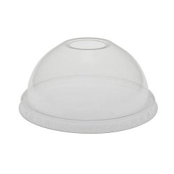 EarthChoice PLA Clear Dome Hole Lid for Cold Cup 12-14-16-18-20-24 oz YPLADL24C