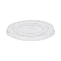 EarthChoice PLA Clear Flat Lid for Portion Cup 2 oz YLSPLA2
