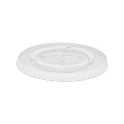 EarthChoice PLA Clear Flat Slot Lid for Cold Cup 12-14-16-18-20-24 oz YLPLA24C