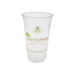 EarthChoice PLA Clear Print Cold Cup 24 oz YPLA24CEC