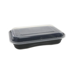 EarthChoice PP Black Rectangular Lid Microwavable Container 27 oz 8.4 in x 5.6 in NV2GRT2786B