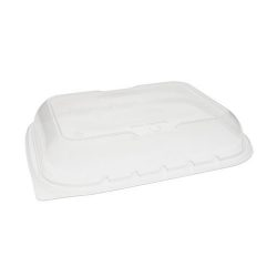EarthChoice PP Clear Vented Dome Lid for Microwavable Container 7 in x 9 in YCNV7X9PPDL