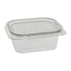EarthChoice rPET Clear Clamshell Hinged Tamper Evident Deli Container 12 oz 5 in x 4 in TEHL5X412