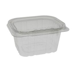 EarthChoice rPET Clear Clamshell Hinged Tamper Evident Deli Container 16 oz 5 in x 4 in TEHL5X416