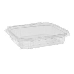 EarthChoice rPET Clear Clamshell Hinged Tamper Evident Deli Container 16 oz 7 in x 6 in TEHL7X616S