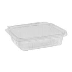 EarthChoice rPET Clear Clamshell Hinged Tamper Evident Deli Container 20 oz 7 in x 6 in TEHL7X620