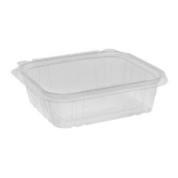 EarthChoice rPET Clear Clamshell Hinged Tamper Evident Deli Container 24 oz 7 in x 6 in TEHL7X624