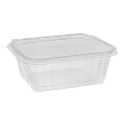 EarthChoice rPET Clear Clamshell Hinged Tamper Evident Deli Container 32 oz 7 in x 6 in TEHL7X632