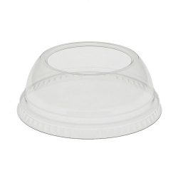 EarthChoice rPET Clear Dome Large Hole Lid for Cold Cup 9-12-14-16-20 oz YPDL20CLH