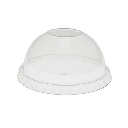 EarthChoice rPET Clear Dome Lid for Cold Cup 9-12-14-16-20 oz YPDL20CNH