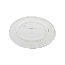 EarthChoice rPET Clear Flat Slot Lid for Cold Cup 12-16-20-24 oz YLP24C