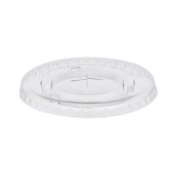 EarthChoice rPET Clear Flat Slot Lid for Cold Cup 12 oz YLP16C