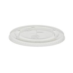 EarthChoice rPET Clear Flat Slot Lid for Cold Cup 9-10 oz YLP10C