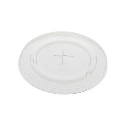 EarthChoice rPET Clear Flat Slot Lid for Cold Cup 9-12-14-16-20 oz YLP20C