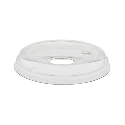 EarthChoice rPET Clear Flat Strawless Lid for Cold Cup 12-16-20-24 oz YLP24CLESS