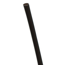 Eco Products PLA Black Cocktail Straw Unwrapped 5.75 in EP-ST513