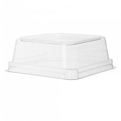 Eco Products PLA Clear Dome Lid for Square Container 5 in EP-SCS5LID