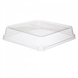 Eco Products PLA Clear Dome Lid for Square Container 8 in EP-SCS8SLID