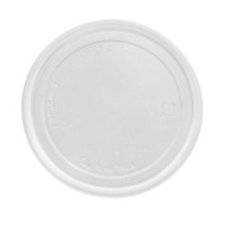 Eco Products PLA Clear Flat Lid for Round Container 5 oz EP-RDP5LID