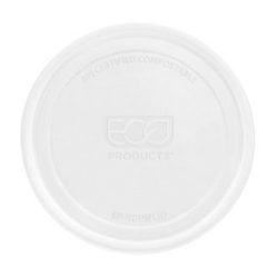 Eco Products PLA Clear Flat Lid for Round Container 8-32 oz EP-RDPLID