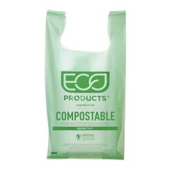 Eco Products PLA Green Shopper Bag 16.1 in x 19.7 in EP-CBMS
