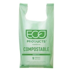 Eco Products PLA Green Shopper Bag 17.7 in x 22.8 in EP-CBLS