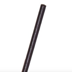 Eco Products Paper Black Jumbo Straw Unwrapped 6 in EP-STP66U-BLK