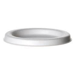 Eco Products Sugarcane White Flat Lid for Portion Cup 4 oz EP-SPCLID4