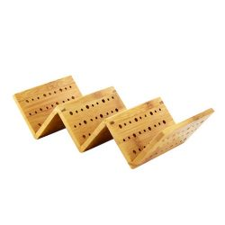 PacknWood Bamboo 3 Taco Holder 8.2 in x 4 in x 1.9 in 210STAC162